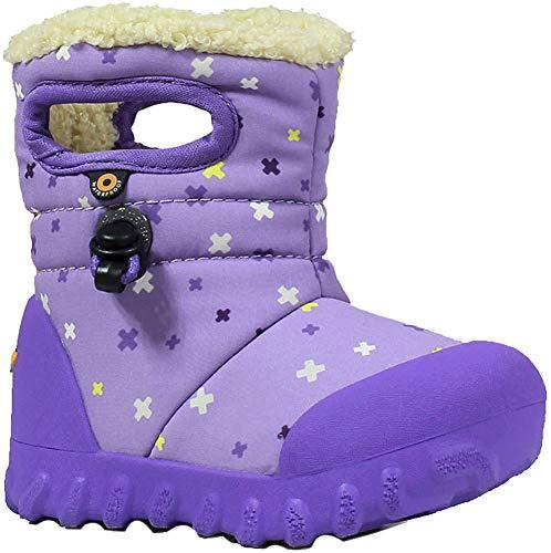 Bogs Kids B-Moc Plus Snow Boot, Lavender Multi, Size 6 M US Toddler (Boots Bogs Ankle)