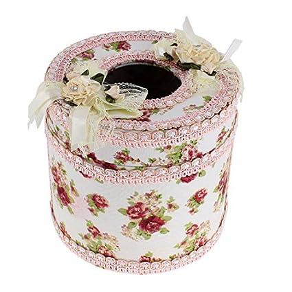 eDealMax Patrón Flor de Forma Redonda Caso del Tejido cuadro Titular