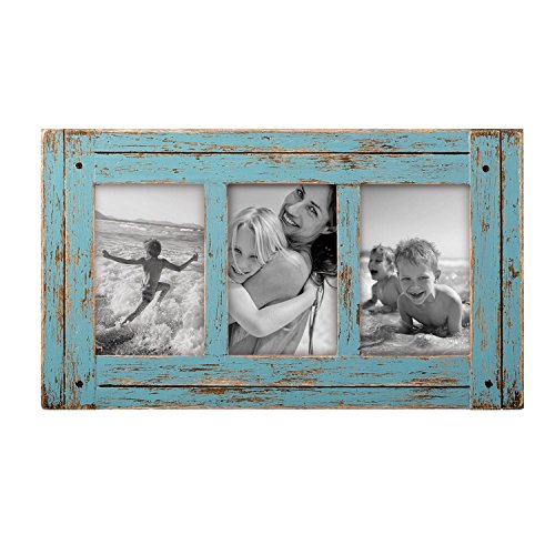 Foreside Home & Garden FFRD06197 4X6 Three Photo Heartland Frame Blue from Foreside Home and Garden