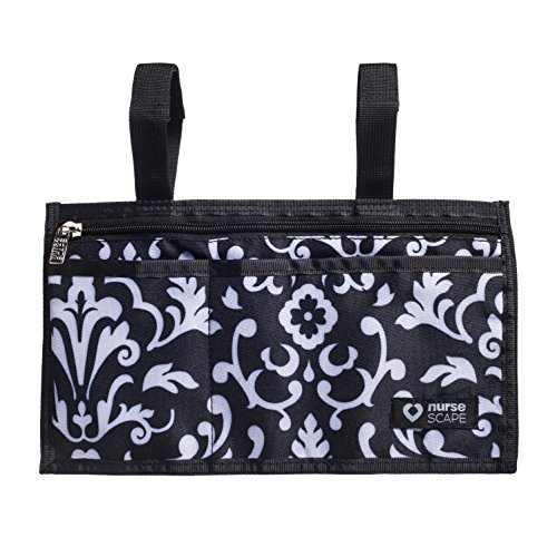 Wheelchair Armrest Pouch Organizer Bag for Side of Chair, 3 Pocket Tote, Arm Rest Storage Accessories for Electric, Manual or Powered Chairs - Paisley Accessories