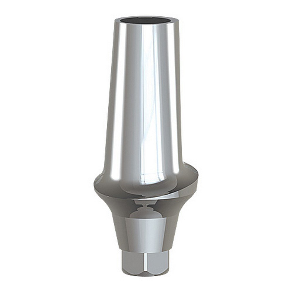 Paltop 40-72041 Conical 1 mm Straight Anatomic Abutment Ti, Concave, 4.5 mm Diameter