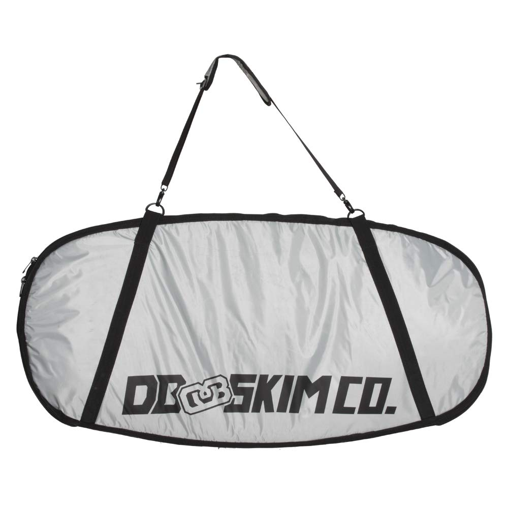 DB Skimboards Day Trip Skimboard Bag - Gray, 46''x23'', Skimboard Carrying Bag with Comfortable Shoulder Strap Durable Carrying Handle Internal Tie-Down Straps & Industrial Strength Zipper