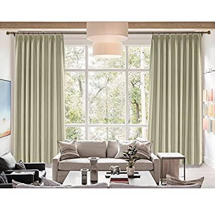 grey linen curtains australia cololeaf grey beige curtain panelsrich natural linen curtainspinch pleated with white lining amazoncom