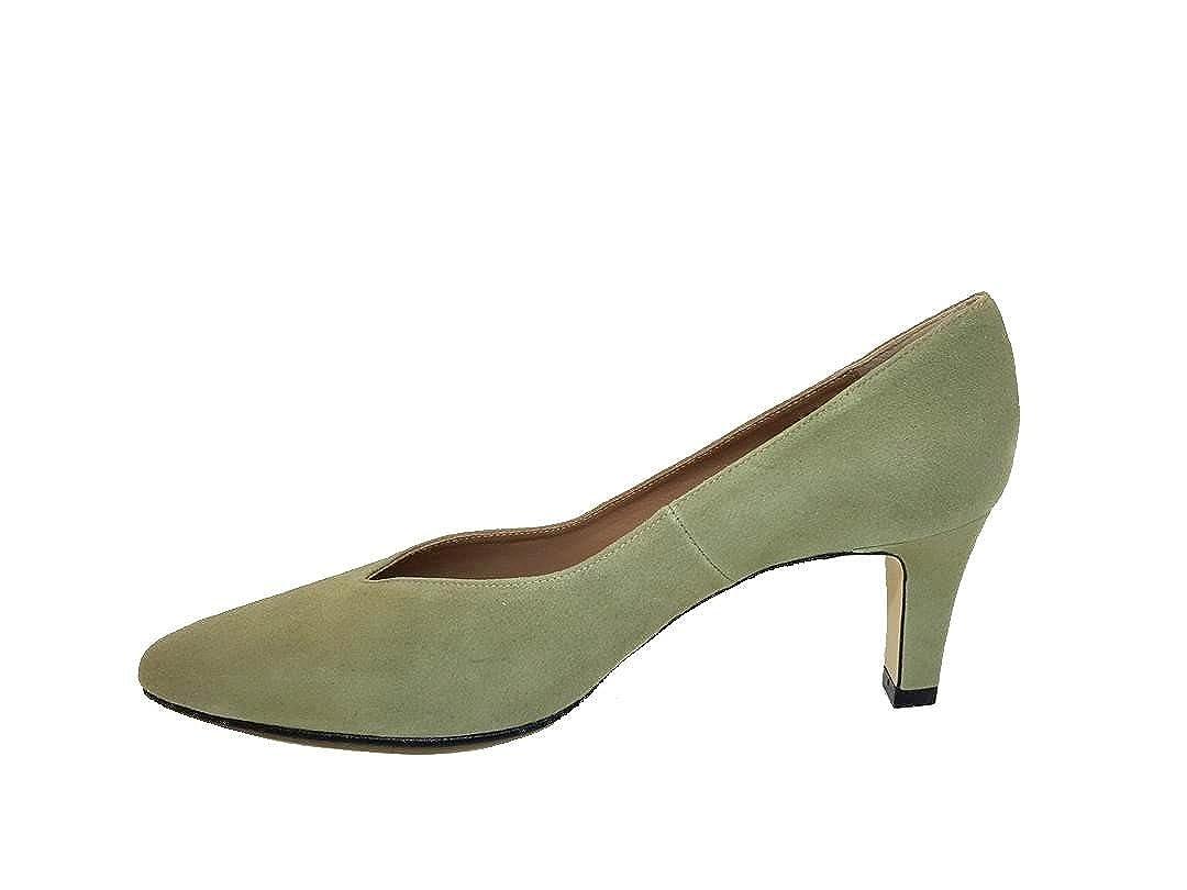 Gennia Gennia Gennia ISORBO - Damen Leder Schuhe mit Absatz 6 cm + Geschlossene Zehe b47e08