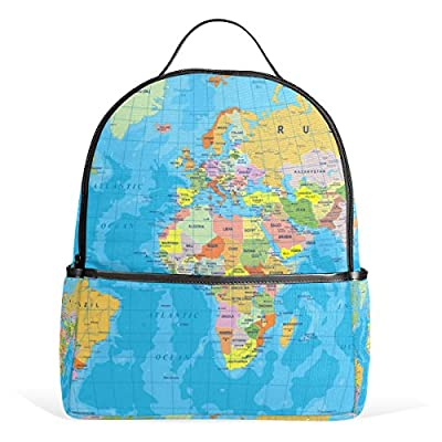 25119a9fd3ae JSTEL World Map School Backpack 4th 5th 6th Grade for Boys Teen Girls Kids  good