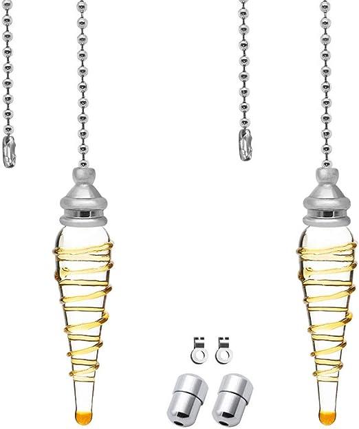 2 unidades de extensión de cadena de tirador de luz cadena de ...