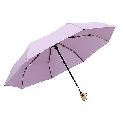 Sombrilla Paraguas Doble Capa Paraguas automático día Soleado y Lluvia Paraguas