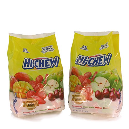 Strawberry Candy Cherry (Hi-Chew Strawberry, Green Apple, Mango, Cherry 14.1 oz - 2 Bags)