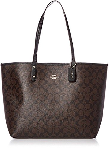 rsible PVC City Tote with Pouch (Brown/Black) (Signature Large Tote)
