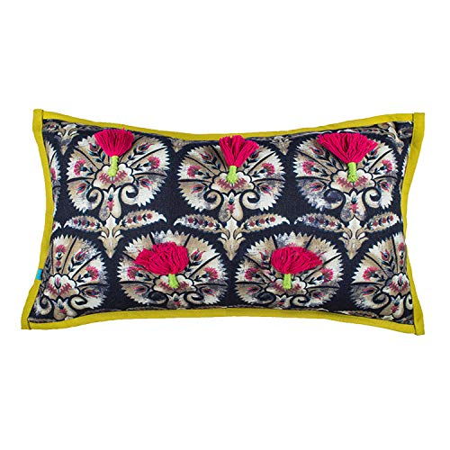 Long Modern Xl Pom Bolster 3d Lumbar Decorative Accent Throw Pillow Covers For Home Décor Red Black Buy Online In Cayman Islands At Cayman Desertcart Com Productid 110872565