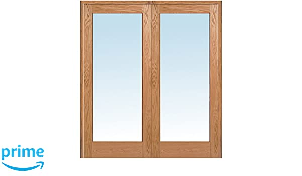 National Door Company Z019992BA Unfinished Red Oak Wood 1 Lite Clear on