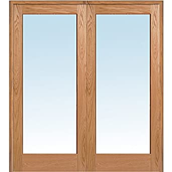 National Door Company Z019992ba Unfinished Red Oak Wood 1 Lite Clear Glass Both Active Prehung