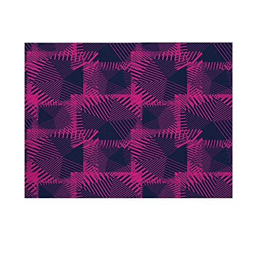 Magenta Decor Photography Background,Trippy Zip Style Mix Pattern with Dark Color Effect Diagonal Linked Lines Backdrop for Studio,20x10ft