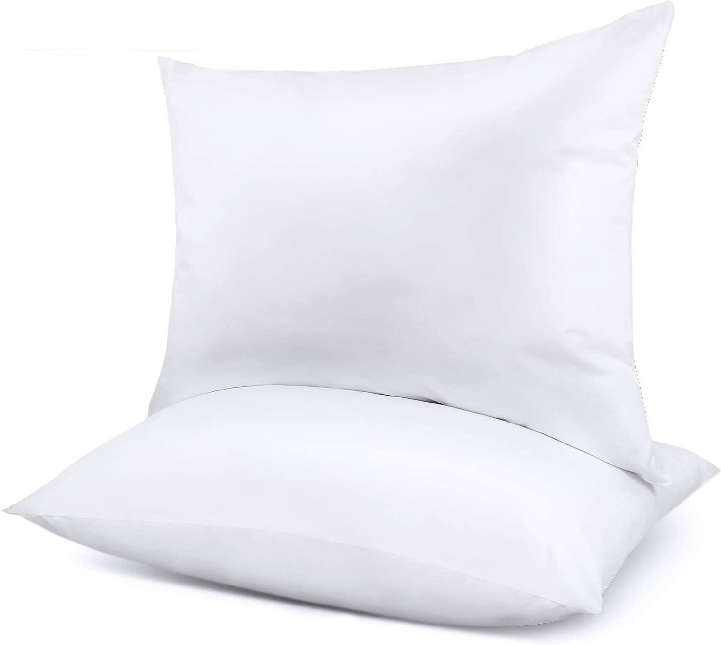 Pillows for Sleeping 2 Pack, Bed Pillows for Neck Pain Premium Down Alternative Cooling Hotel Pillow for Side & Back Sleeper with Cotton Cover Standard 20X26 White