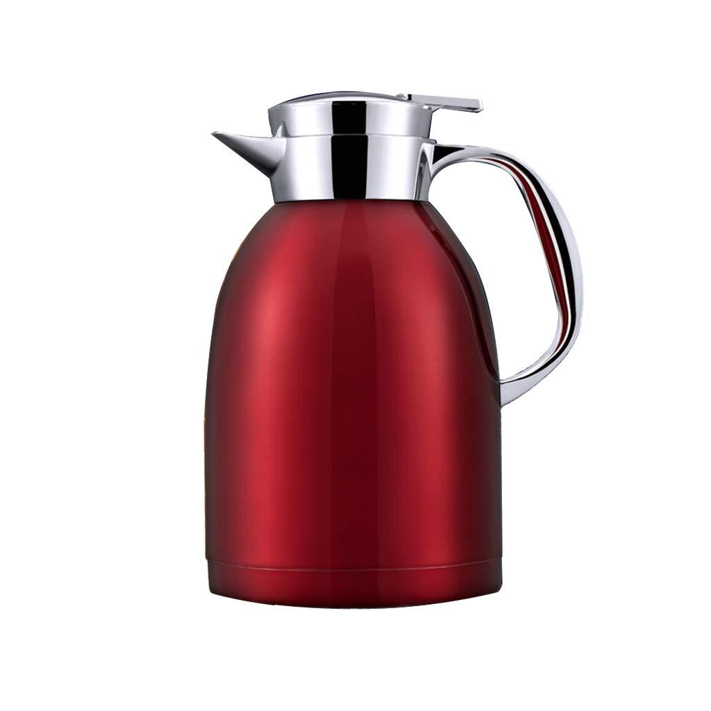 FYCZ Thermoskannen, 304 Edelstahl 2L Doppelwandige Vakuumisolierte Kaffeekanne Kaffee Plunger Juice Isolation Reisebecher B4