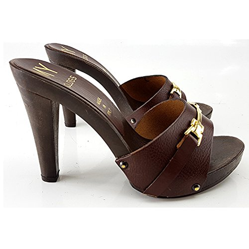Kiara Ddwqirf Shoes 11 My315 Marrone Zoccolo Tacco 0wmnvN8