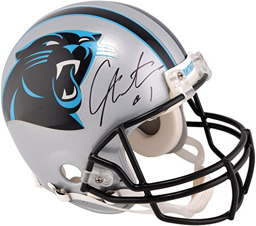 Cam Newton Carolina Panthers Autographed Pro-Line Riddell Authentic Helmet - Fanatics Authentic Certified (Autographed Authentic Pro Line Helmet)