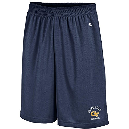 Champion NCAA Georgia Tech Men's Men's Classic Team Mesh Short, Medium, Navy - Georgia Tech Tailgate