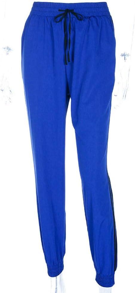 WBWANY Casual Drawstring Jogger Pants Mujer Moda Mujer Pantalones ...