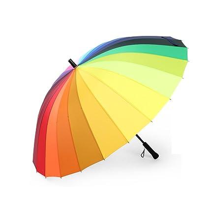 GAOYANG Mango Largo De 24 Huesos De Los Hombres Grandes Paraguas Doble Paraguas Reforzado A Prueba