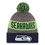 New Era Knit Seattle Seahawks Biggest Fan Redux Sport Knit Winter Stocking Beanie Pom Hat Cap NFL