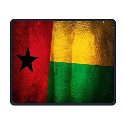 Mouse Pad Vintga Guinea Bissau Honorary Flag Rectangle Non-Slip 9.8in11.8 in Personalized Designs Gaming Rubber Mousepad Stitched Edges Mouse Mat