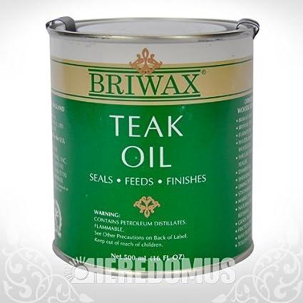 Briwax Teak Oil 500 Ml 16 Oz Household Wood Stains Amazon Com
