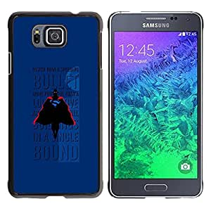 Paccase / SLIM PC / Aliminium Casa Carcasa Funda Case Cover - Bullet Flying Text Comic Character - Samsung GALAXY ALPHA G850