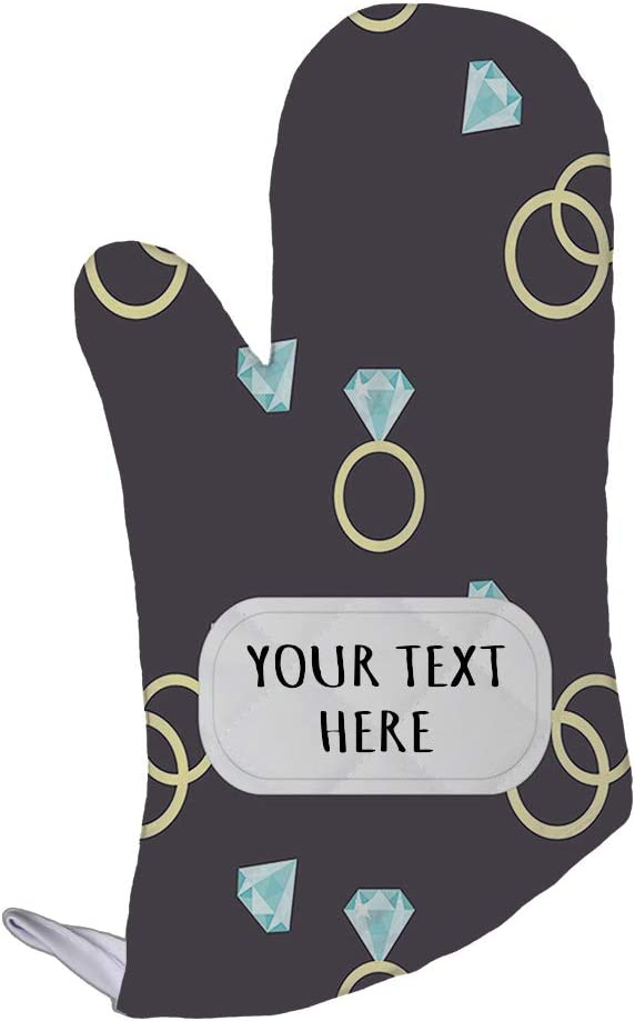 Polyester Oven Mitt Custom Engagement Ring Seemless Pattern Adults Kitchen Mittens