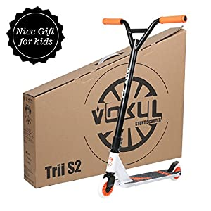 "Vokul TRII S Freestyle Tricks Pro Stunt Scooter - Best Entry Level Pro Scooter - 20""W23.2""H CrMo4130 Chromoly Handlebar - Reinforced 20""L4.1""W Deck,Integral Stable Performance"