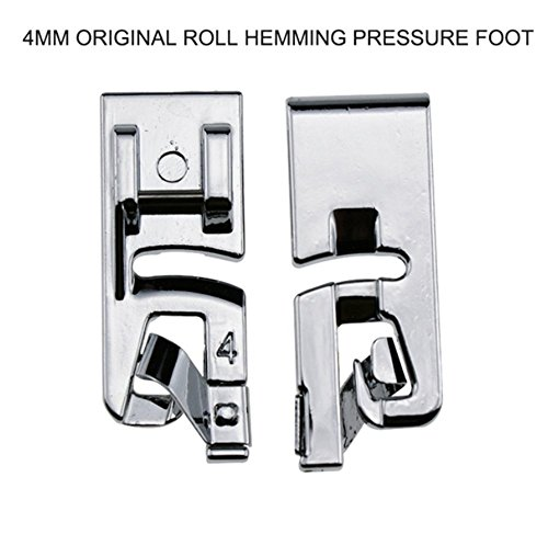 Brother Fits All Low Shank Snap-On Singer Babylock,Janome New Home Kenmore Pack of Rolled Hem Pressure Foot Sewing Machine Presser Foot Hemmer Foot and Tape Binding Sewing Machine Presser Foot
