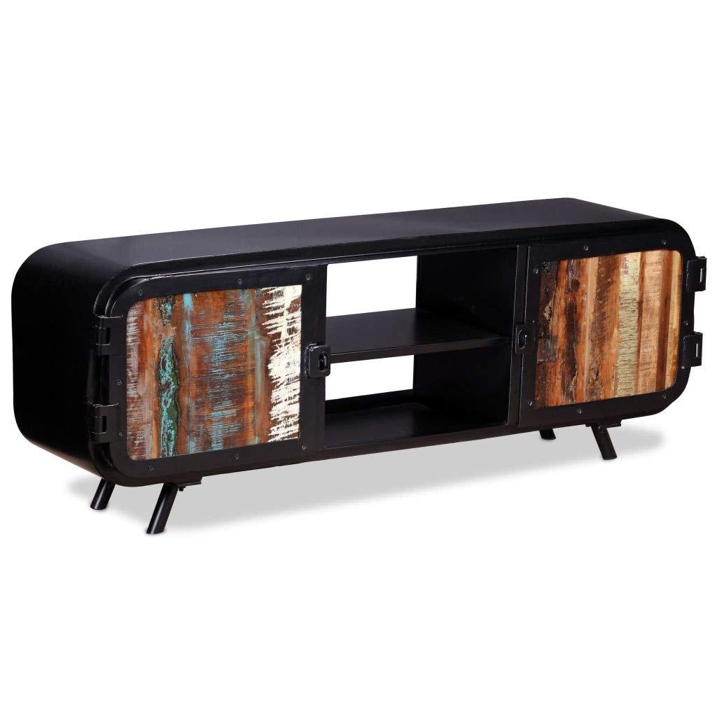Mueble TV Vintage de Madera Reciclada https://amzn.to/2rM657L