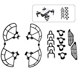 ALLCACA DJI Spark 3 in 1 Protector Set Quadcopter Kits Drone Accessories Kits, Including Propeller Guards, Landing Gears and Finger Protection Fences, Black