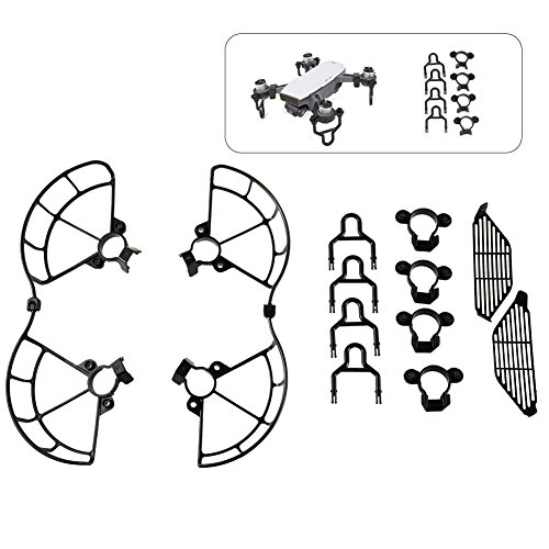 ALLCACA DJI Spark 3 in 1 Protector Set Quadcopter Kits Drone Accessories Kits, Including Propeller Guards, Landing Gears and Finger Protection Fences, Black by ALLCACA