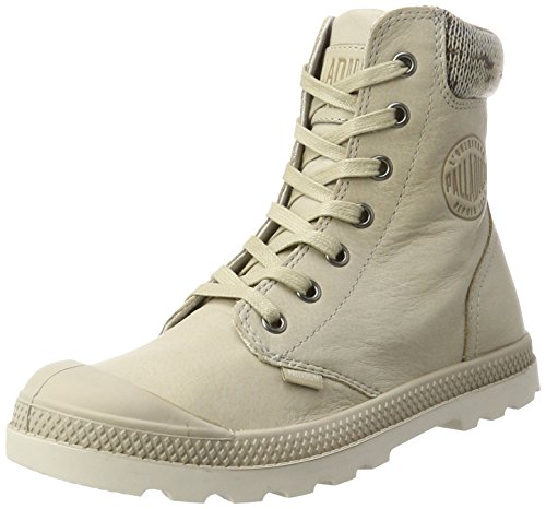 Damen Palladium Pampa Tricot Lp F Hohe Chaussure Braun (taupe / Moonbeam)