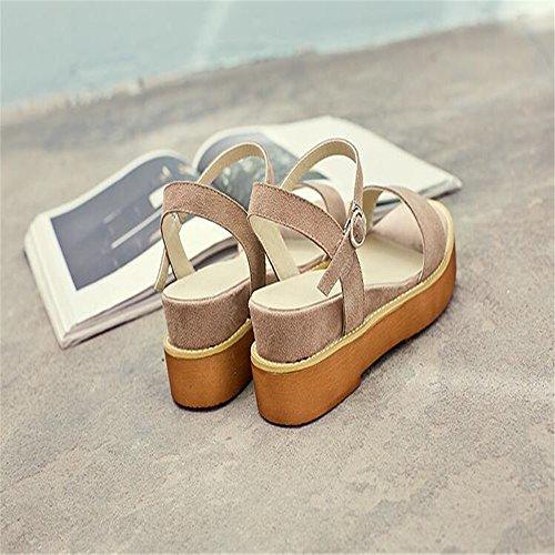 Sordo verano sandalias gruesas hembra Brown