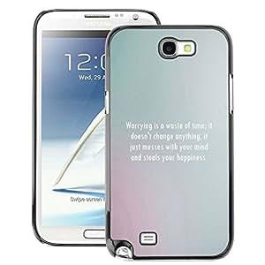A-type Arte & diseño plástico duro Fundas Cover Cubre Hard Case Cover para Samsung Note 2 N7100 (Inspirational Motivational Message Grey)