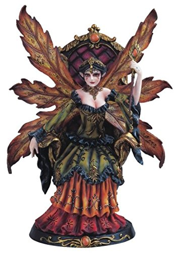 Autumn Fairy Queen with Wand Collectible Figurine Decoration