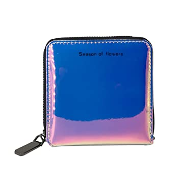 the best attitude 901d7 2dd87 Ladies Credit Card Holder Fashion Holographic Wallets Zipper Leather Purses  Waterproof Women Neck Bags with 9 Card Slots, 1 Money Slots, Coin Slot for  ...