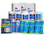 Rx Clear Deluxe Spring Swimming Pool Start Up Opening Chemical Kit for Pools Up To 30,000 Gallons