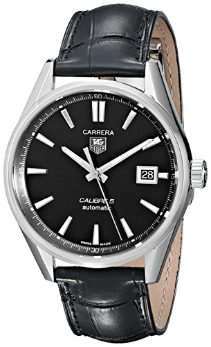 TAG Heuer Men's WAR211A.FC6180 Carrera Calibre 5 Autmoatic Analog Black Watch