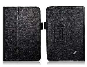 """Cuero Litchi Caso protector del patrón del Faux para Acer B1-A71 7 """"Tablet PC (Negro)"""