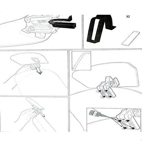 PJhao Moto Universel r/églable Pare-Brise D/éflecteur Extension Spoiler Pare-Brise Accessoires