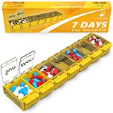 #5: Weekly Pill Organizer Vitamin Holder - Large Pill Container Box - Easy Open Medication Dispenser Case, Detachable Large Medicine 7 Day Box - Vitamin Organizer Large 7 Compartments