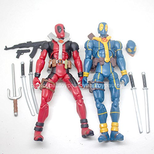 2pcs Marvel Universe 3.75inch Blue Red Deadpool loose figure