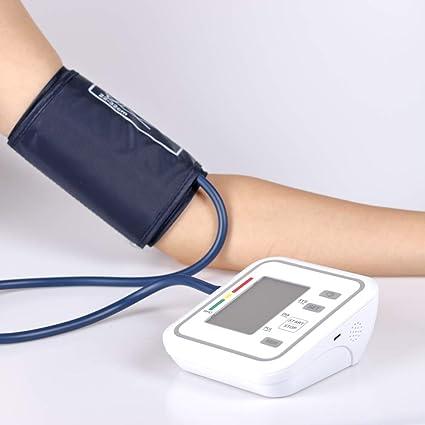 Esfigmomanómetro electrónico de tipo brazo totalmente automático, protección contra sobrepresión y transmisión de voz,