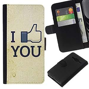 JackGot ( Funny Like You FB ) Samsung Galaxy Core Prime la tarjeta de Crédito Slots PU Funda de cuero Monedero caso cubierta de piel