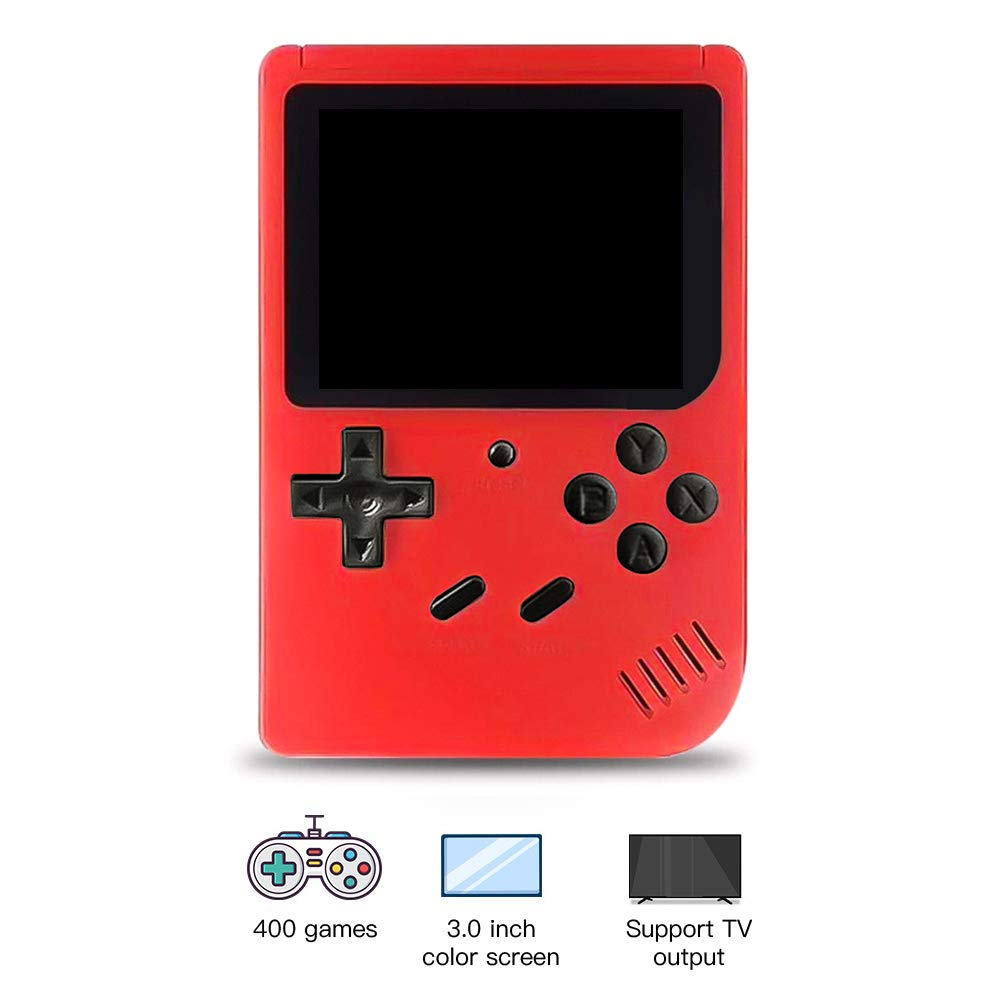 RoJuicy Mini Handheld Game Console, Retro FC Game Console, Video Game Console with 3 Inch Color Screen 400 Classic Games Support TV Video Game Player tick for Birthday Presents by RoJuicy (Image #5)