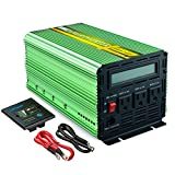 EDECOA Power Inverter Pure Sine Wave 1000 W DC 12V to 120V AC Converter with LCD Display and Remote Controller