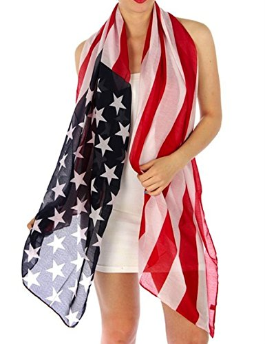 Patriotic Vintage Distressed American Scarf